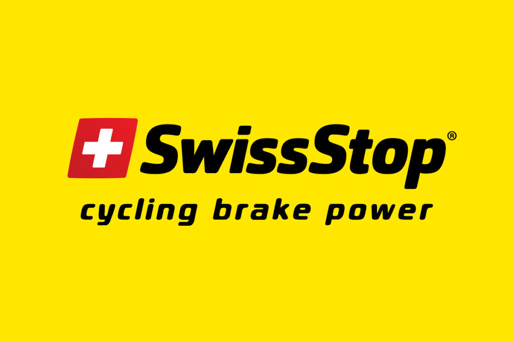 SwissStop logo on yellow background